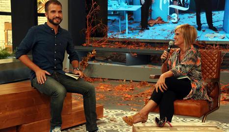 Ricard Ustrell i Gemma Nierga conversen en la presentació de la graella de tardor de TV3.