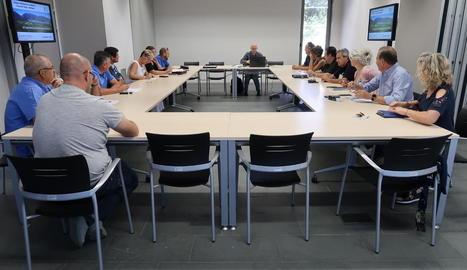 Un moment durant la reunió de l'assemblea del Geoparc ahir.