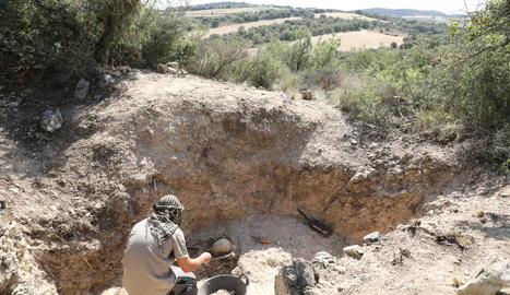 L'excavacions de Foradada han descobert el cos del que podria ser un soldat republicà.
