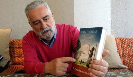 Rafel Nadal, en un acte promocional de la novel·la a Lleida.