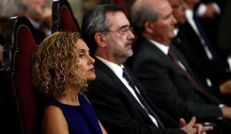 La presidenta del Congrés, Meritxell Batet, insisteix que encara hi ha temps per a un acord.