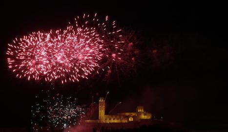Imatge dels focs artificials de les Festes de Maig d'aquest any.