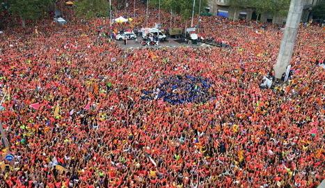 La manifestació de la tarda a Barcelona es podrà veure a les dos cadenes.