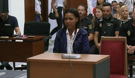 Ana Julia Quezada ahir durant la declaració davant del jutge.