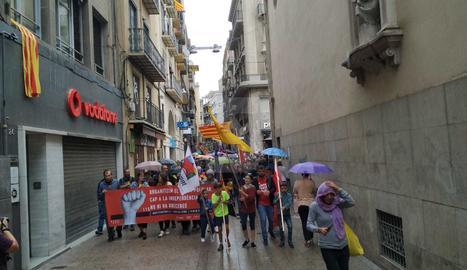 Manifestació de l'esquerra independentista a Lleida