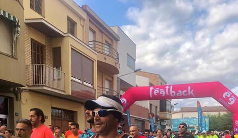 Moment de la sortida de la cursa, celebrada ahir a Térmens.