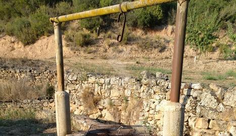 Tapen un pou perillós a les Garrigues