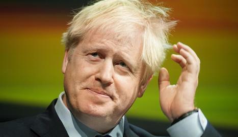 El primer ministre Boris Johnson ahir durant un discurs a la ciutat anglesa de Rotherham.