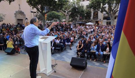 Deu anys d'Arenys de Munt - El president de la Generalitat, Quim Torra, va participar ahir en els actes commemoratius del desè aniversari de la primera consulta per la independència a Catalunya, organitzada a Arenys de Munt. Al discurs, Torra v ...
