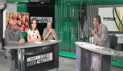 Un moment del debat, moderat per Josep Maria Sanuy.