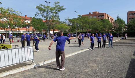 El Club Petanca Secà de Sant Pere va acollir ahir el torneig i altres activitats per a totes les edats.