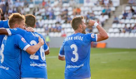 Imatges del partit entre el Lleida Esportiu i l'Espanyol B