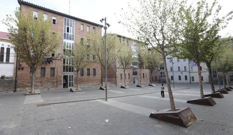 Imatge d'arxiu de la plaça dels Gramàtics de Lleida.