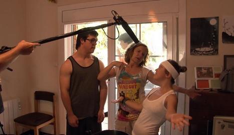 Una escena del documental 'Down n'hi do', gravat en un taller de cine.