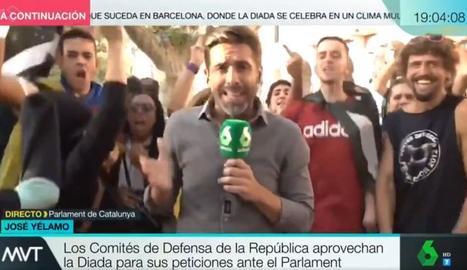 Un moment de la polèmica connexió amb José Yélamo.