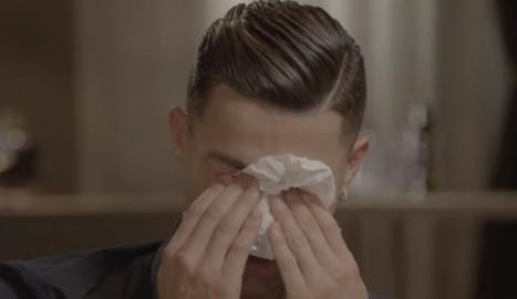 Cristiano va plorar a l'entrevista