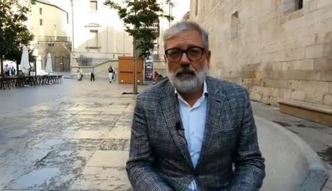 El cap de l'oposició a l'Ajuntament de Lleida, Fèlix Larrosa.
