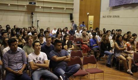 La UdL va programar ahir un acte de benvinguda als alumnes estrangers del primer quadrimestre.