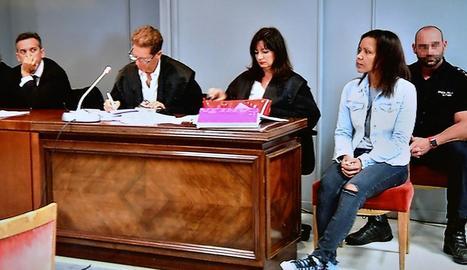 Ana Julia, culpable d'assassinat amb traïdoria, ahir, a Almeria.