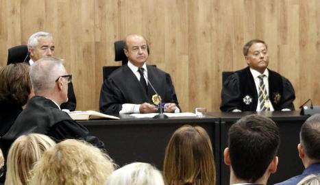 Barrientos, durant l'acte d'obertura de l'any judicial a Lleida.