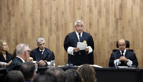 El fiscal superior de Catalunya, Francisco Bañeres, durant l'acte d'obertura de l'any judicial a Lleida.