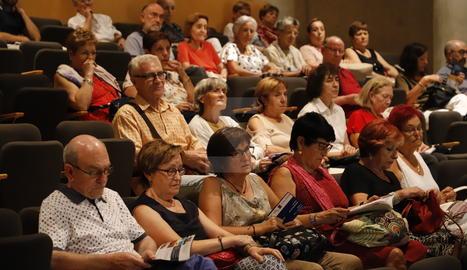 Presentació de les activitats al públic a l'Auditori Enric Granados