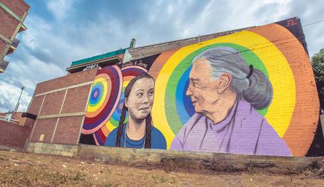 Un mural ecologista i feminista, premi del públic a Torrefarrera