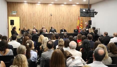 El president del TSJC, Jesús María Barrientos, va presidir l'obertura de l'any judicial a Catalunya, que es va celebrar ahir a Lleida.