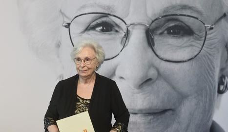 Josefina Molina, ahir al rebre el Premio Nacional de Cine 2019.