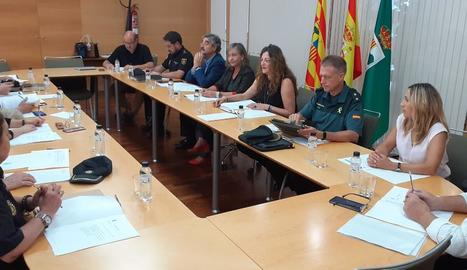 La Junta Local de Seguretat celebrada ahir a Fraga.