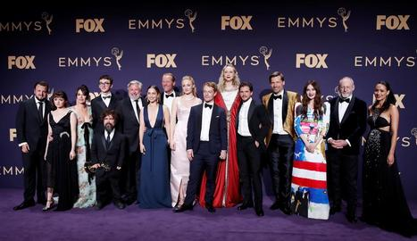 Els actors de 'Joc de trons', a l'última participació en els premis Emmy.