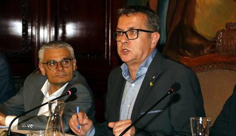El president de la Diputació, Joan Talarn, durant el ple ordinari d'aquest dimarts.