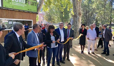 La inauguració de la Fira de Sant Miquel de Lleida.