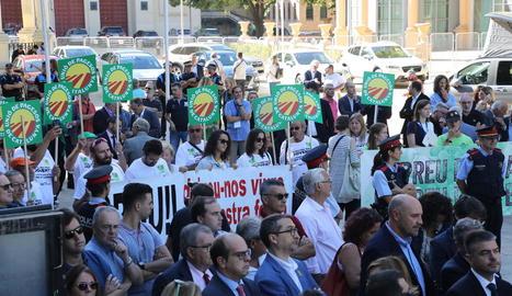 Unió de Pagesos es va manifestar ahir durant la inauguració.