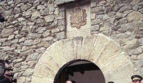 L'expresident francès durant una visita a Andorra.