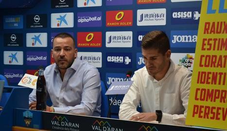 Jordi Esteve i Raúl Fuster durant la presentació del segon.