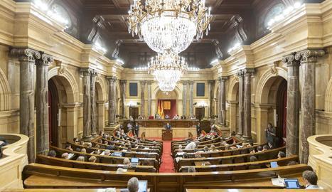 Una vista del Parlament de Catalunya