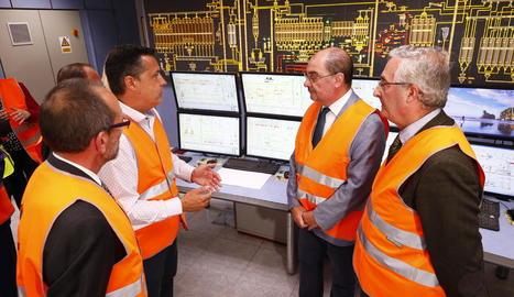 El president d'Aragó va visitar ahir l'empresa.