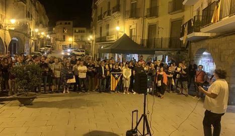 Protesta per l'empresonament dels CDR, dijous a les Borges.