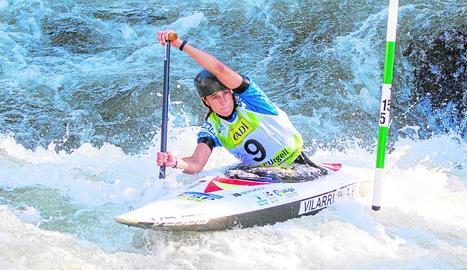 Núria Vilarrubla, durant la baixada ahir a les preliminars de canoa.