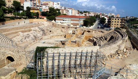 Imatge de l'amfiteatre romà de Tarragona, declarat Patrimoni de la Humanitat per la Unesco.