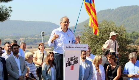 Torra respon a Sánchez que l'única violència a Catalunya és la del l'1-O