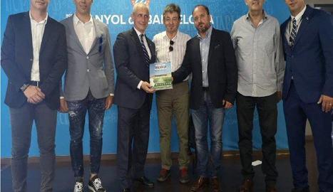 Joan Capdevila va convidar la directiva de la UE Tàrrega al partit.