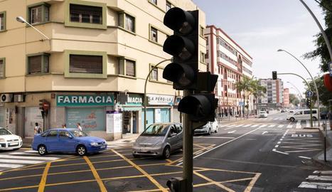 Semàfors sense funcionar a Santa Cruz de Tenerife.