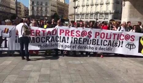 Manifestació a Madrid per demanar la llibertat de CDR presos.