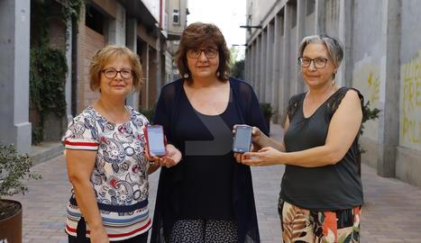 Antonia, Roser i Tere són tres pacients que han utilitzat l'aplicació del projecte Connecare
