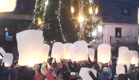 Encesa dels llums d'Arties durant el Nadal de l'any passat.
