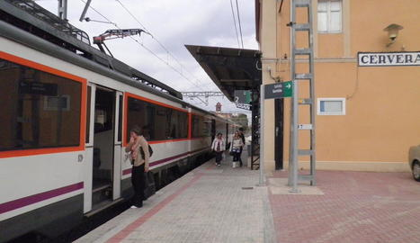 Imatge d'arxiu de l'estació de trens de Cervera.