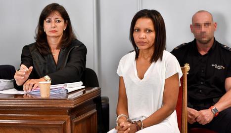 Ana Julia Quezada durant la primera sessió del judici.