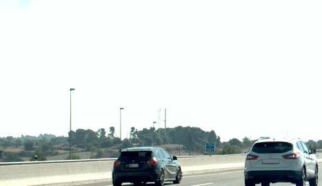 El radar dels Mossos d'Esquadra va capturar el vehicle infractor.